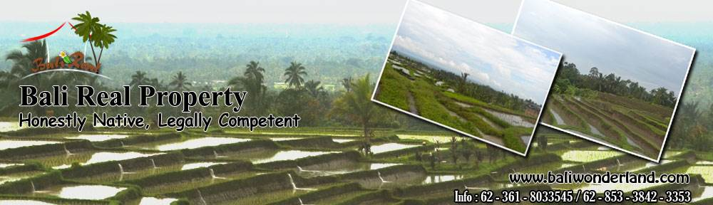 Land for sale in Ubud Bali 1,300 m2 in Ubud Center
